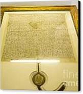 Magna Carta Canvas Print by Steven Ralser