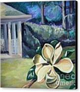 Magnolia In Moonlight Canvas Print by Ellen Howell
