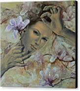 Magnolias Canvas Print by Dorina  Costras