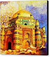Mai Jwandi Tomb On Makli Hill Canvas Print by Catf