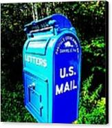 Mail Box Canvas Print by Will Boutin Photos