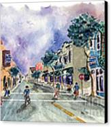 Main Street Half Moon Bay Canvas Print by Diane Thornton