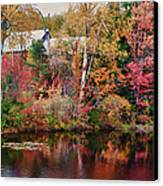 Maine Barn Through The Trees Canvas Print by Jeff Folger
