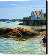 Maine Fishing Port Canvas Print by Olivier Le Queinec