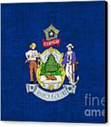Maine State Flag Canvas Print