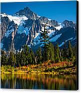 Majestic Mount Shuksan Canvas Print by Inge Johnsson