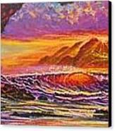 Majestic Purple Sunset  Canvas Print