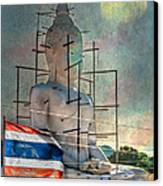 Making Buddha Canvas Print by Adrian Evans