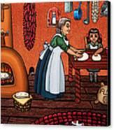 Making Tortillas Canvas Print