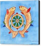 Makya Golden Fish Canvas Print