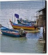 Malaysian Fishing Jetty Canvas Print
