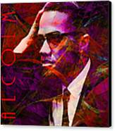 Malcolm X 20140105m28 With Text Canvas Print