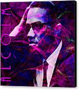Malcolm X 20140105m88 With Text Canvas Print by Wingsdomain Art and Photography
