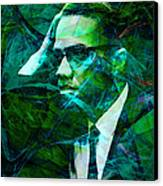 Malcolm X 20140105p138 Canvas Print by Wingsdomain Art and Photography