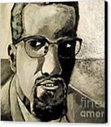 Malcolm X Canvas Print by Sidney Holmes