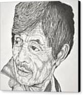 Man Looking Back Canvas Print by Glenn Calloway