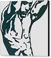 Man Nude Pop Stylised Etching Art Poster  Canvas Print