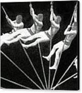 Man Pole Vaulting 1884 Canvas Print by Nypl