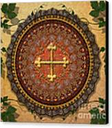 Mandala Armenian Cross Sp Canvas Print by Bedros Awak
