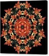 Mandala Daylily Canvas Print