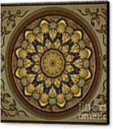 Mandala Earth Shell Sp Canvas Print by Bedros Awak