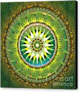 Mandala Green Canvas Print by Bedros Awak