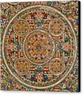 Mandala Of Heruka In Yab Yum And Buddhas Canvas Print