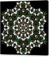 Mandala Trillium Holiday Canvas Print