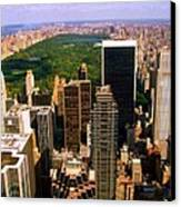 Manhattan And Central Park Canvas Print