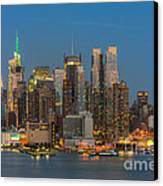 Manhattan Twilight IIi Canvas Print by Clarence Holmes