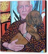 Man's Best Friend Canvas Print by Tom Roderick