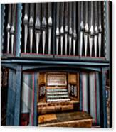 Manual Pipe Organ Canvas Print by Adrian Evans
