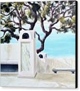 Marble Courtyard Canvas Print