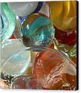 Marbles In A Jar Canvas Print by Mary Bedy