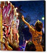 Mardi Gras At Night Canvas Print by Ray Devlin