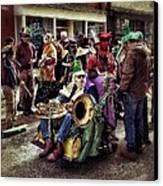 Mardi Gras Parade Canvas Print by Mark Block