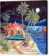Margaritaville Conch Christmas Canvas Print by Abigail White