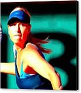 Maria Sharapova Tennis Canvas Print
