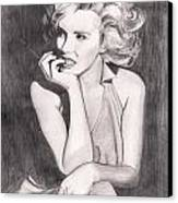 Marilyn Canvas Print by Beverly Marshall