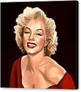 Marilyn Monroe 3 Canvas Print by Paul Meijering
