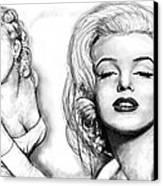 Marilyn Monroe Art Long Drawing Sketch Poster Canvas Print by Kim Wang