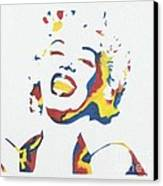 Marilyn Monroe Canvas Print by Juan Molina