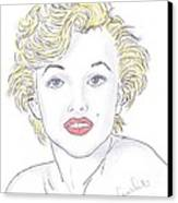 Marilyn Canvas Print by Steven White