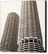 Marina City Chicago Canvas Print by Julie Palencia