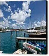 Marina St Thomas Virgin Islands Canvas Print by Amy Cicconi