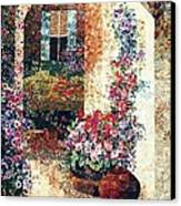 Marina's Garden Canvas Print by Lenore Crawford