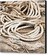 Marine Ropes Beige And Brown Colors Canvas Print by Matthias Hauser