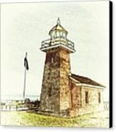 Mark Abbott Lighthouse Santa Cruz California Canvas Print by Paul Topp