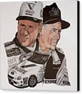 Mark Martin Race Car Driver Canvas Print