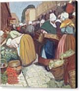 Market In Brest Canvas Print